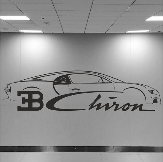 Picture of Bugatti Chiron Wall Art sticker