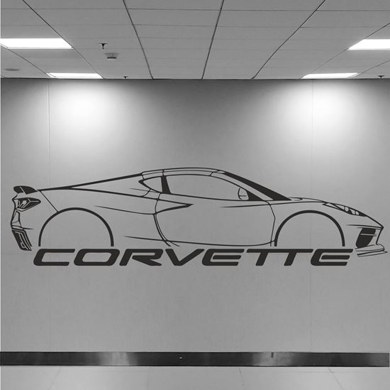 Picture of Chevrolet Corvette C8 Wall Art sticker