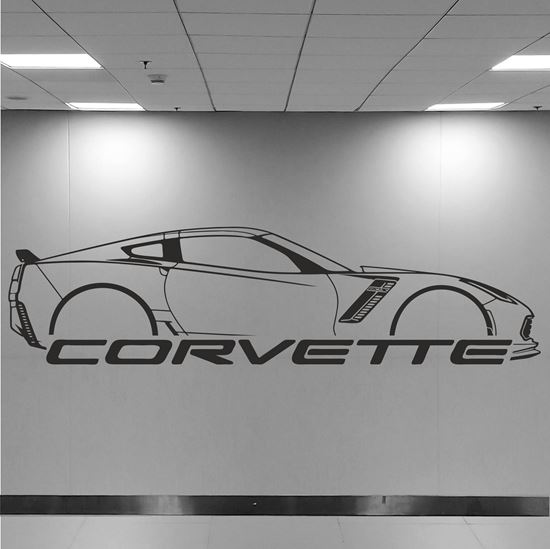 Picture of Chevrolet Corvette C7 Wall Art sticker