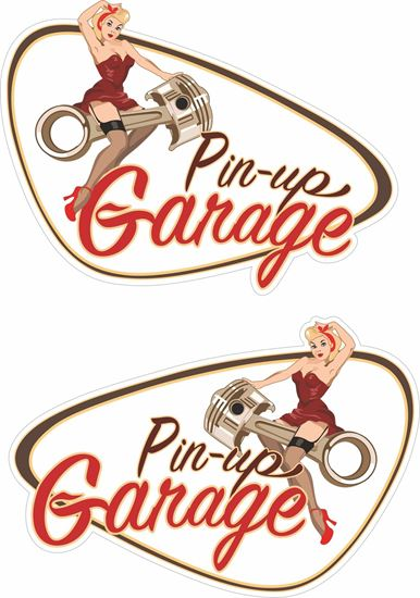 Picture of Pin Up Garage general panel  Decals / Stickers
