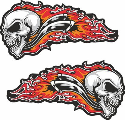 Picture of Skull &  Pipes Decals / Stickers