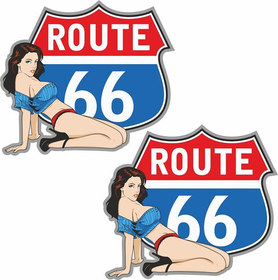 """Picture of """"Route 66""""  Decals / Stickers"""