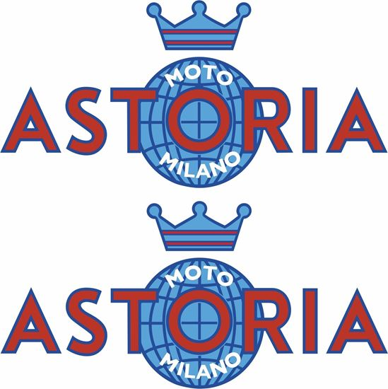 Picture of Astoria Motorcycle Decals / Stickers