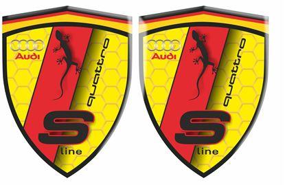 Picture of Audi S Line Quattro Wing / Panel Badges 80mm
