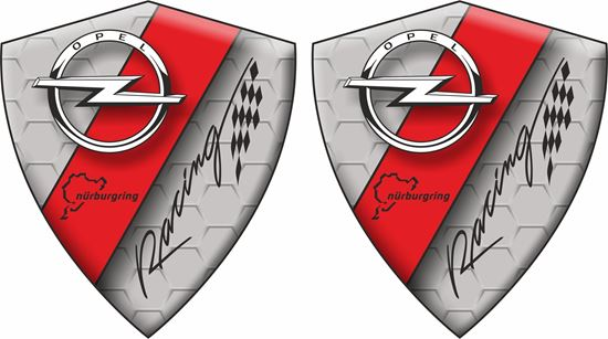 Picture of Opel Racing Wing / Panel Badges 80mm