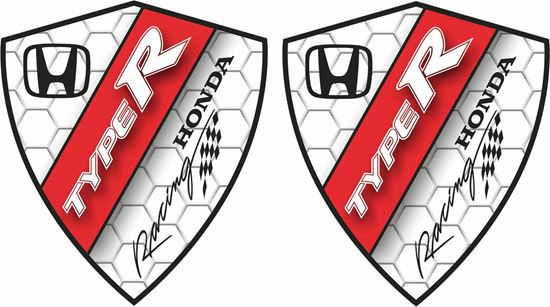 Picture of Honda Racing Type R Decals / Stickers
