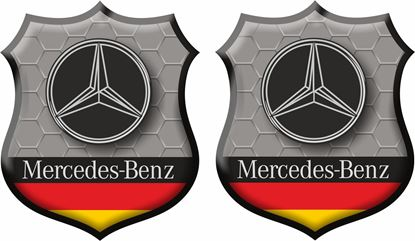 Picture of Mercedes Wing / Panel Badges 80mm
