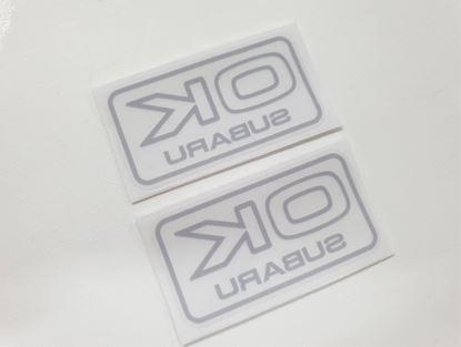 "Picture of Impreza ""OK Subaru"" Glass replacement Decals / Stickers"