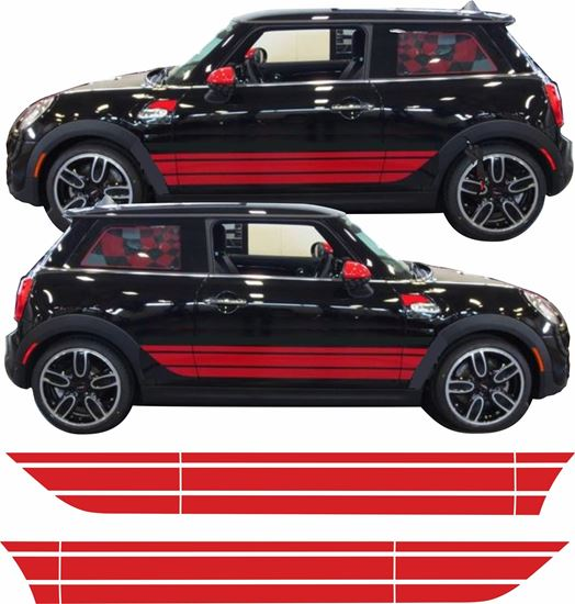 Picture of Mini F56 / F57 Cooper / S / JCW side Beltline Stripes / Stickers