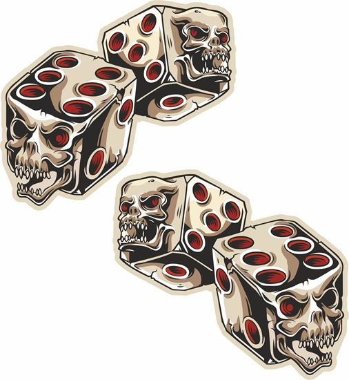 Picture of Dice Skulls  general panel Decals / Stickers