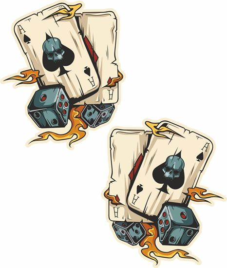 Picture of Playing Cards & Dice Decals / Stickers