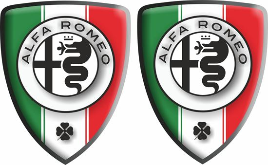 Picture of Alfa Romeo wing Badges 80mm