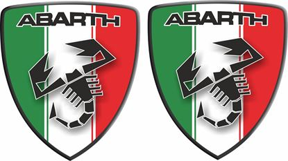 Picture of Fiat Abarth Italia wing Badges 60mm