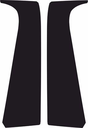 Picture of Peugeot 107 3 Door B Pillar textured protection Vinyl / stickers