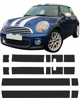 Picture of Mini R56 Cooper  / One over the top Stripes / Stickers