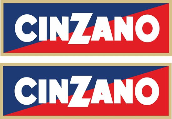 """Picture of """"Cinzano"""" Decals / Stickers"""