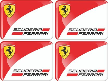Picture of Scuderia Ferrari Adhesive gel Badges