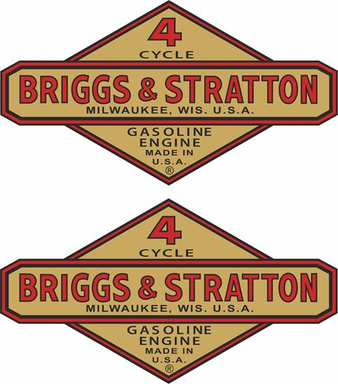 Picture of Briggs & Stratton Motorcycle Decals / Stickers