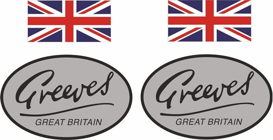 Picture of Greeves Great Britain Decals / Stickers