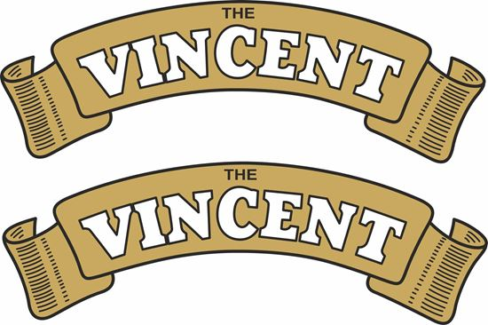 Picture of Vincent Motorcycle Decals / Stickers