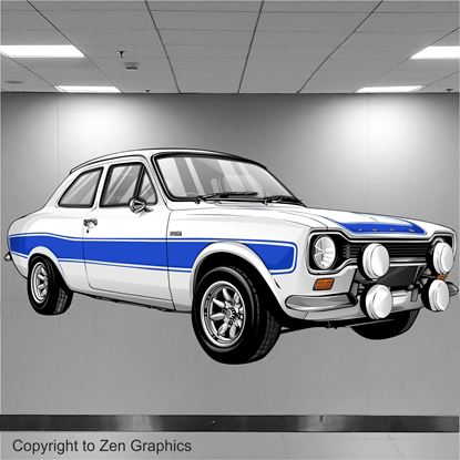 Picture of Ford Escort RS2000 Wall Art sticker (full colour)