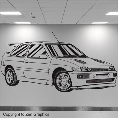Picture of Ford Escort RS Cosworth Wall Art sticker