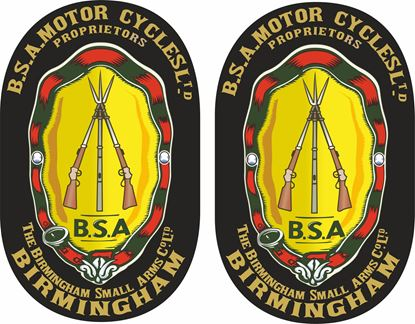 Picture of B.S.A. Cycles Ltd Birmingham... Decals / Stickers