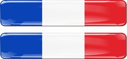 Picture of France 70mm Exterior Gel Badges