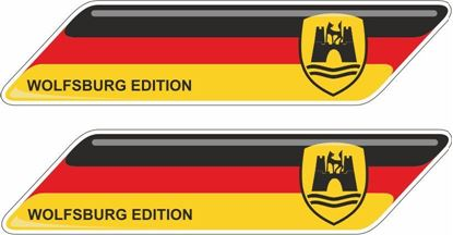 """Picture of Germany """"Wolfsburg Edition""""  70mm Exterior Gel Badges"""
