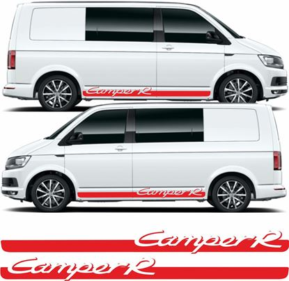 "Picture of VW T5 / T6 ""Camper R"" side Stripes / Stickers"