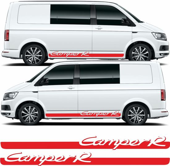 """Picture of VW T5 / T6 """"Camper R"""" side Stripes / Stickers"""
