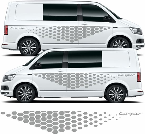 Picture of VW T5 / T6 short wheel base side Graphics / Stickers