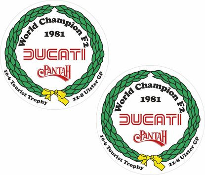 Picture of Ducati World Champion F2 Pantah Decals / Stickers