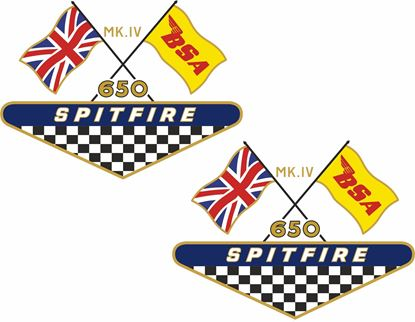 Picture of BSA 650 Spitfire Decals / Stickers