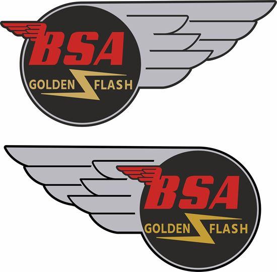Picture of BSA Golden Flash Decals / Sticker