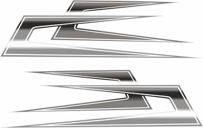 Picture of Swedish Boomerang  top side Decals / Stickers  CHROME FOIL