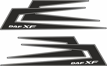 Picture of DAF XF Swedish Boomerang  top side Decals / Stickers