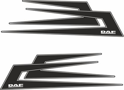 Picture of DAF Swedish Boomerang  top side Decals / Stickers
