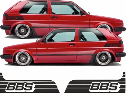 """Picture of MK2 Golf side rear quarter """"BBS"""" Decals / Stickers"""
