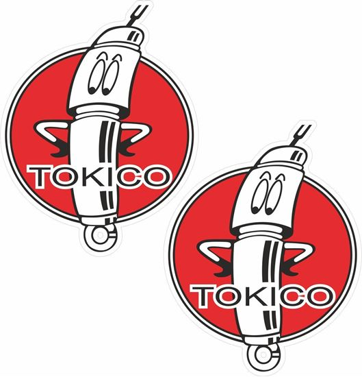 "Picture of ""Tokico Gas Shocks""  Decals / Stickers"