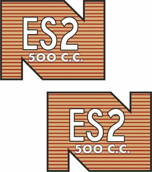 Picture of Norton ES2 500cc rear mud guard Decals / Stickers