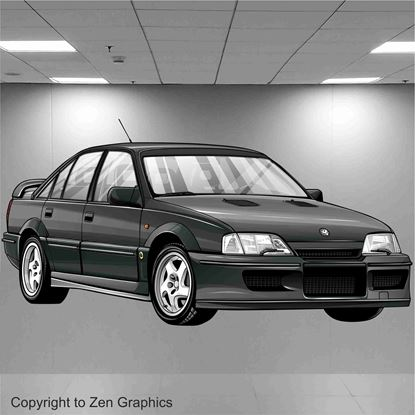 Picture of Lotus Carlton Wall Art sticker (Full colour)