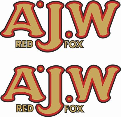 Picture of A.J.W Red Fox Decals / Stickers