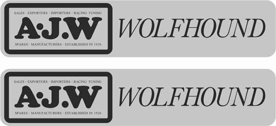 Picture of A.J.W Wolfhound Decals / Stickers