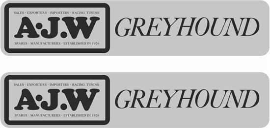 Picture of A.J.W Greyhound Decals / Stickers