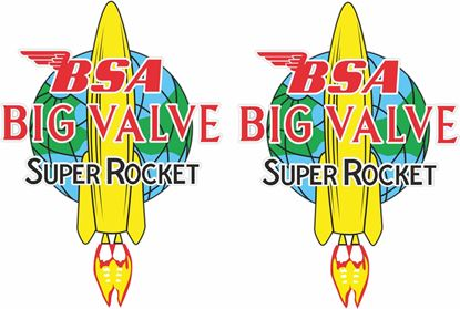 Picture of BSA  Super Rocket Big Valve Decals / Stickers