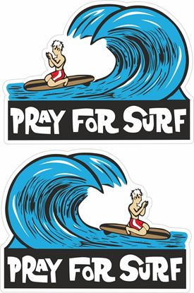 """Picture of """"Pray for Surf"""" Decals / Stickers"""