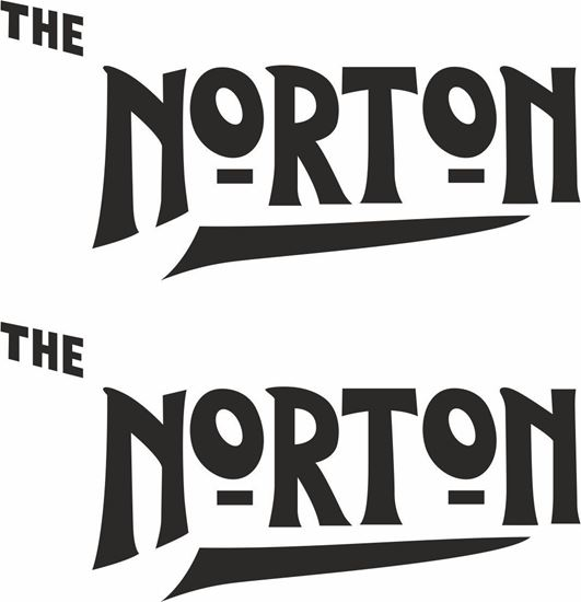"Picture of Norton ""The Norton"" restoration Decals / Stickers"