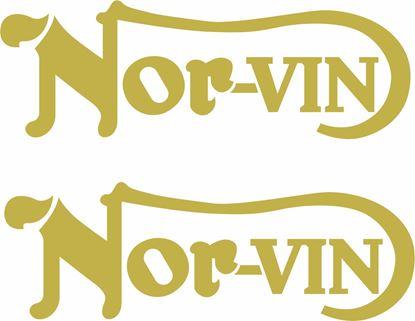 "Picture of Norton ""Nor-vin""  restoration Decals / Stickers"