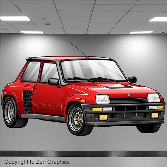 Picture of Renault 5 Turbo 2  Wall Art sticker (full colour)
